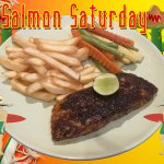 Salmon Saturday Special With Two Choice Of Side Dishes