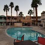 Pool and hotel rooms