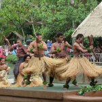 Enthusiastic dance from the Tahitians!