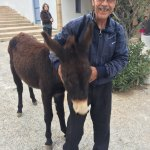 My brother in Law & a friendly donkey!