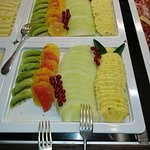 Ripe and delicious fresh fruits served at the Waldhaus am See