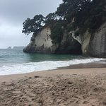 another view from the Cathedral Cove beach.