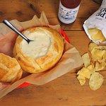 Clam chowder bread bowl