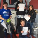 Kids with their racing certificates