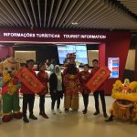 Just finished a lion dance, now picture time with arriving guests