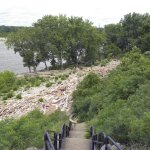 Fossil beds along the river from the visitors center