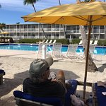 Sunset Beach Inn is a lovely hotel on the beach and with a great pool.  The location on W Gulf i