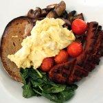 Big breakfast with Rudi's bacon and kransky