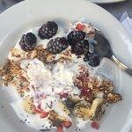 Cereales con avena y yogurt