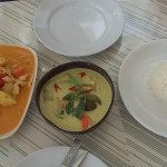 Massaman and green curry