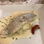 Sea bass on parsnip purée