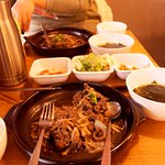 The Beef Bulgogi set. It is delicious.