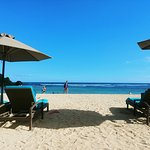Private beach - which means private deck chairs, beach is open access)