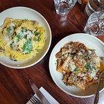PACHERI w/ ragu of the day + PAPPARDELLE w/ salsiccia, marsala, parmigiano and basil