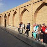 """Si-o-se-pol, Isfahan, Iran. Its name in Persian means """"Bridge of 33 Arches"""". from Safavid era."""
