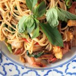 Spicy Thai style seafood spaghetti from Captain's Corner