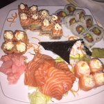 My salmon platter, individually ordered.