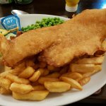 Absolutely superb fish and chips. .