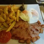 Gammon and egg