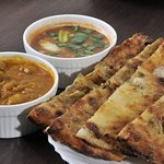 Amritsari Kulcha Served with Chole & Tamarind Chutney