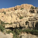 the natural rocky canyon that Ein Gedi is built around...