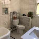 "#5 Nantucket - original ""subway tile"" plus soaking tub & separate shower."