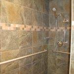Shower, very large, wonderful plentiful hot water.