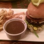 Dirty burger with fries and gravy......YUM!!