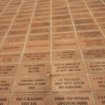 Bricks with names being memorialized by friends and families.