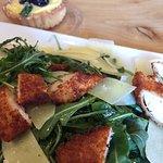 Chicken; lemon tart