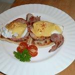 Eggs Benedict on Potato Scone