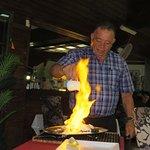 spectacular flamed salt baked fish