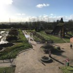 View from the tall high lift ride. Each area has loads to try and drive or dig