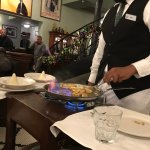 Bananas Foster right at the table. Our waiter was great!