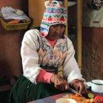 Blanca es una indígena de la Isla Amantaní (Perú). Gracias a Intense Perú, pude dormir en su cas