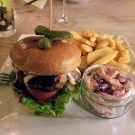 Le Francais burger, coleslaw was fantastic.