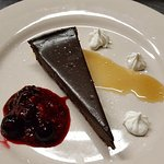 Chocolate Torte with a mixed berry honey compote
