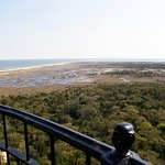 A view of the cape from the balcony of the Hatteras lighthouse.