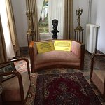 Stylish sofa, Arabist and nice carpet decorating this corner.