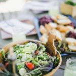 Green salad, fresh fruit & olives - All part of our signature picnic lunch on the Full-Day Bike