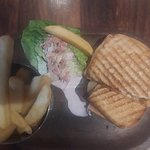 Pulled pork & Irish cheese toasties with chips