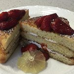 Home baked brioche French toast