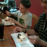 Enjoying Sticky Date Pudding n Ice Cream