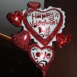 some of the decorations for Valentine's night