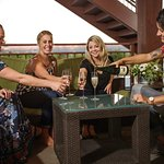 Enjoy wine tasting outside