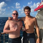 Myself and Collier, an excellent SCUBA instructor.