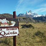 View of Mt Fitz Roy from the turn off