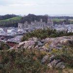 View of Caernarfon Castle from a distance
