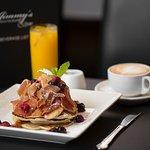 Pancakes with Bacon - Breakfast Menu