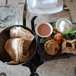 Byblos - Lahim Bil Ajeen, Chicken Sambusek & Pita Bread